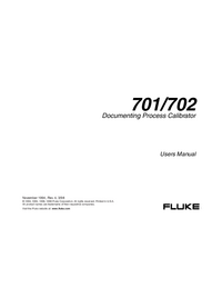 Manual del usuario Fluke 702