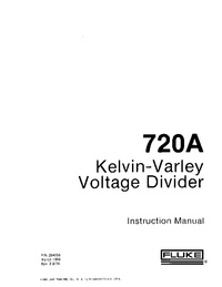 Service and User Manual Fluke 720A