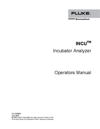 Manual del usuario FlukeBio INCU