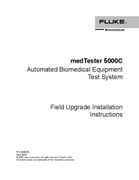 User Manual FlukeBio medTester 5000C