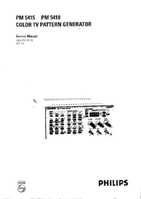 Service Manual FlukePhilips PM 5418