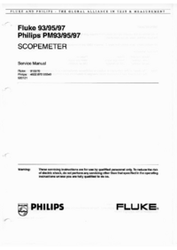 Manual de servicio FlukePhilips Philips PM95