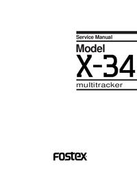Manual de serviço Fostex X-34