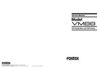 manuel de réparation Fostex VM88