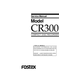 Service Manual Fostex CR300