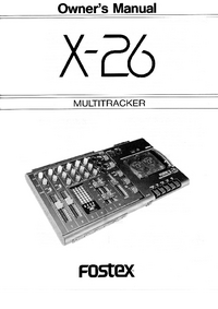User Manual Fostex X-26