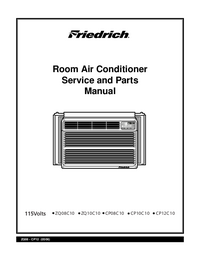 Service Manual, Part List only Friedrich CP12C10
