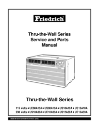Service Manual Friedrich US10A30A