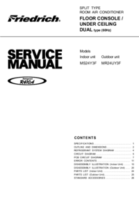 Service Manual Friedrich MR24UY3F