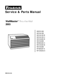Service Manual Friedrich WE15A33B