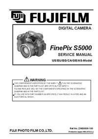Service Manual FujiFilm FinePix S5000