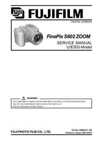 Manuale di servizio FujiFilm FinePix S602 ZOOM