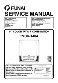 Manual de servicio Funai TVCR-A1404T