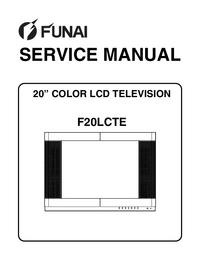 Руководство по техническому обслуживанию Funai F20LCTE