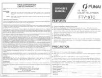 User Manual Funai FTV19TC