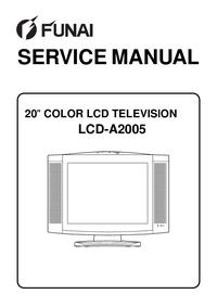 Manual de servicio Funai LCD-A2005