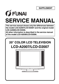 Serviço Manual Supplement Funai LCD-A2007