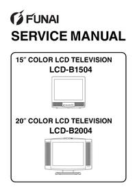 Manual de servicio Funai LCD-B1504