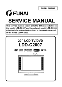 Serviço Manual Supplement Funai LDD-C2007