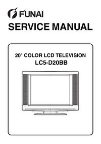 Instrukcja serwisowa Funai LC5-D20BB
