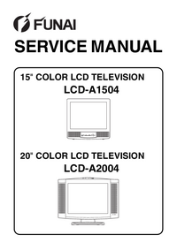 Руководство по техническому обслуживанию Funai LCD-A1504