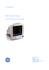 User Manual GEHealthcare B30