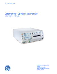 User Manual GEHealthcare Corometrics 250cx Series