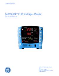 Manual de serviço GEHealthcare CARESCAPE V100