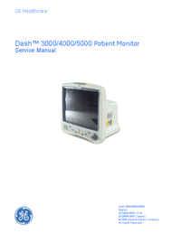 Service Manual GEHealthcare Dash 3000