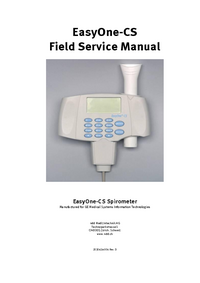 Manual de servicio GEHealthcare EasyOne-CS