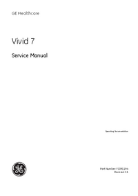 Manual de servicio GEHealthcare Vivid 7 Pro