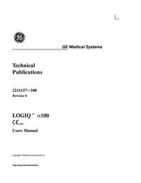 User Manual GEMedical Logiq™ α100