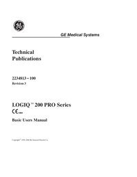 Manual do Usuário GEMedical LOGIQ™ 200 Pro Series