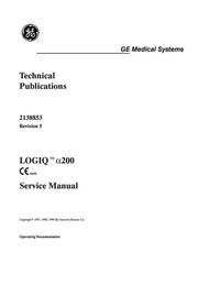 Manual de servicio GEMedical LOGIQ™ α200