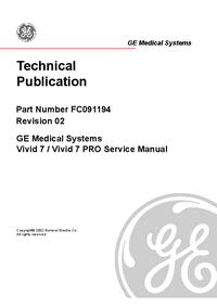Manual de serviço GEMedical Vivid 7 PRO