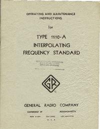 Manuale di servizio GR 1110-A
