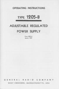 Service-en gebruikershandleiding GR 1205-B