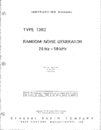 Service and User Manual GR 1382
