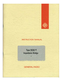 Serviço e Manual do Usuário GR 1650-B