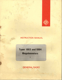 Service and User Manual GR 1863
