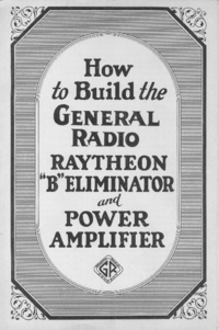 "Manuale d'uso GR RAYTHEON ""B""ELIMINATOR"