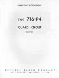 Serviço e Manual do Usuário GR 716-P4
