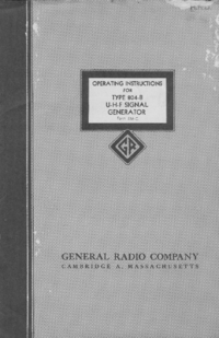 Service and User Manual GR 804-B