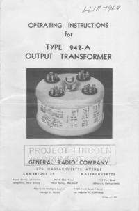 Servicio y Manual del usuario GR 942-A