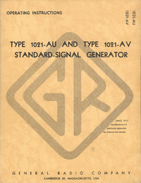 Service and User Manual GR 1021-AU