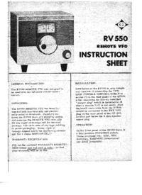 Servicio y Manual del usuario Galaxy RV550