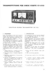 Serwis i User Manual Geloso G4/223