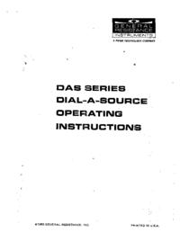 Servicio y Manual del usuario GeneralResistance DAS Series