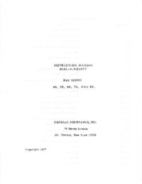 Service-en gebruikershandleiding GeneralResistanceInstruments DAS 50