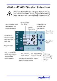 User Manual Getemed VitaGuard® VG 3100
